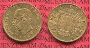 20 Lire goldmünze 1863 Sardinien Italien V...