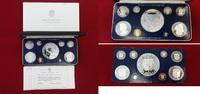 Kursmünzensatz bis 20 Balboas Silber 1977 ...