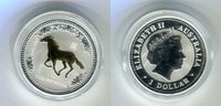 1 Dollar 2002 Australien Jahr des Pferdes 1 Unze Silber Lunar I Stempel... 109,00 EUR  plus 8,50 EUR verzending