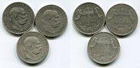 3 x 5 Korona Silber 11900, 07,  Österreich...