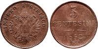Österreich,Lombardei 5 Centesimi 1852,Mailand Winz.Randfehler,vz  65,00 EUR  +  5,00 EUR shipping