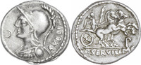 P.Servilius Rullus.Denar 100 v.Chr.,Rom. gutes sehr schön  110,00 EUR  +  5,00 EUR shipping