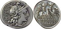 M.Atilius Saranus,Denar 148 v.Chr.,Rom. fast vz  115,00 EUR  +  5,00 EUR shipping