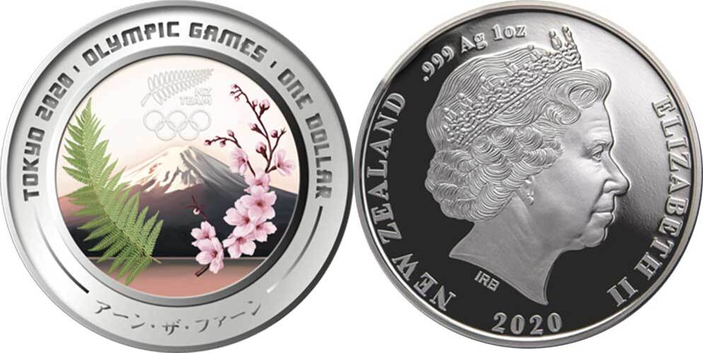 Tokyo 2020 Olympic Games 2020-1 OZ Silver Proof Coin New Zealand