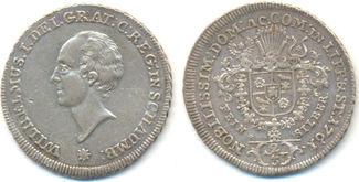 2/3 Taler Münzstätte Bückeburg. 1761 Schaumburg Lippe: Wilhelm Friedrich Ernst, 1748-1777: ss+
