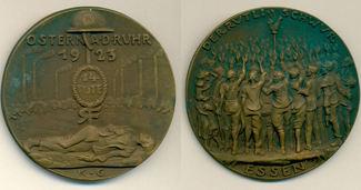Bronzemedaille auf den Rütlischwur 1923 Karl Götz:  vz
