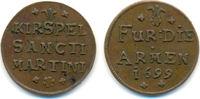 Kupfer Armenzeichen St. Martini 1699 Münst...