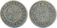 2 Reales Sevilla 1759 Spanien: Ferdinand V...