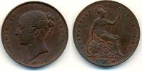 Penny 1855 Grossbritannien: Victoria, 1837...