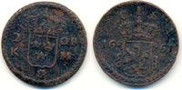 2 Öre 1661 Schweden: Karl XI, 1660-1697: ss