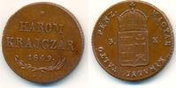 Harom (3) Krajczar 1849 B Ungarn: Nagybany...
