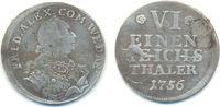 1/6 Taler Neuwied 1756 Wied Neuwied: Johan...