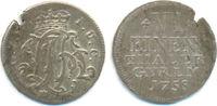 1/6 Taler Kriegsprägung 1758 Wied Runkel. ...