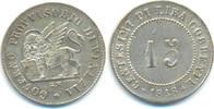 15 Centesimi mit Überprägungsspuren 1848 Z...