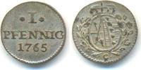 1 Pfennig 1765 C Sachsen: Friedrich August...