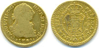1 Escudo Mzst. Popayan. Gold. 1770 Spanien...