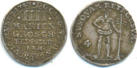 4 Mariengroschen 1743 IBH Braunschweig Wol...
