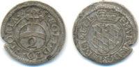 1/2 Batzen zu 2 Kreuzer 1665 Bayern: Ferdi...