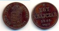1 Krajczar Kremnitz 1849 Ungarn: Revolutio...