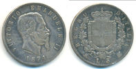 5 Lire 1874 M Italien: Vittorio Emanuele I...