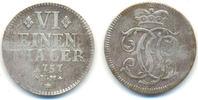 1/6 Taler Kriegsgeld 1757 NM Trier Erzbist...