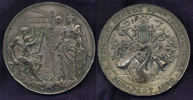 Versilberte Bronzemedaille 1890 Ungarn Bud...