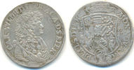 2/3 Taler 1677 Anhalt Zerbst: Carl Wilheln...