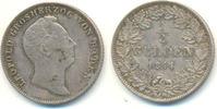 1/2 Gulden 1844 Baden: Leopold, 1830-1852:...