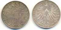 2 Gulden 1848 Frankfurt Stadt:  fast Stemp...