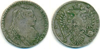 Rubel 1734 Russland: Anna, 1730-1740: ss