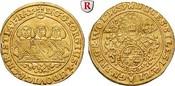 Dukat 1659 Schlesien Liegnitz-Brieg, Fürstentum, Georg III., Ludwig und Christian, 1639-1663, Gold, 3,23 g ss+, l. gewellt; min. Hksp.