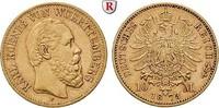 10 Mark 1873 F Württemberg Karl, 1864-1891...