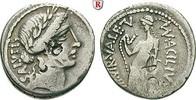 Denar 49 v.Chr.  Man. Acilius Glabrio, 49 ...