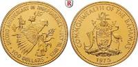 100 Dollars 1975 Bahamas Elizabeth II., seit 1952, Gold, 18,01 g st  440,00 EUR  +  10,00 EUR shipping