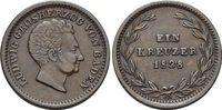 CU-Kreuzer 1828 Baden-Durlach Ludwig 1818-1830. Patina, fast vorzüglich  39,00 EUR  +  5,00 EUR shipping