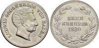 10 Kreuzer 1830 Baden-Durlach Ludwig 1818-1830. Min.Rf., vorzüglich +  69,00 EUR  +  5,00 EUR shipping