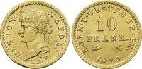 Westfalen-Königreich Gold-10 Franken Hieronymus Napoleon 1807-1813.