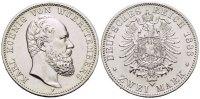 Württemberg 2 Mark Karl 1864-1891.