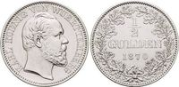 1/2 Gulden 1870 Württemberg Karl 1864-1891. vorzüglich +  129,00 EUR  +  5,00 EUR shipping