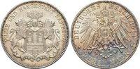 3 Mark 1914  J Hamburg  Kl.Rf., vorzüglich...