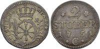 2 Stüber 1 1751  C Brandenburg-Preussen Fr...
