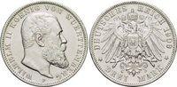 3 Mark 1909  F Württemberg Wilhelm II. 189...