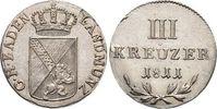 3 Kreuzer 1811 Baden-Durlach Carl Ludwig F...