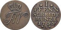 CU-Pfennig 1793  A Brandenburg-Preussen Friedrich Wilhelm II. 1786-1797... 29,00 EUR  +  5,00 EUR shipping