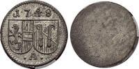 Einseitiger Pfennig 1748 Salzburg-Erzbistu...