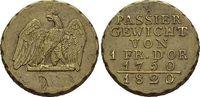 Messing-Passiergewicht 1820 Brandenburg-Pr...
