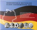 6x 10 Euro 2003 Germany Official blister w...
