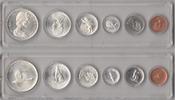 1,91 Dollar 1697 Canada Coinset 1967 Unc / Bu