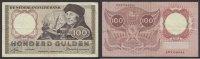100 Guilders 1953 Netherlands Erasmus Very...