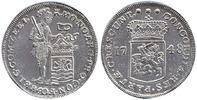 Silber Dukat Piedfort 1748 Niederlande / P...